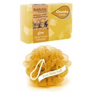 Buy BodyHerbals Hydrating, Hand Made, Honey & Almond Bathing Bar With Natural Chunks - Nykaa
