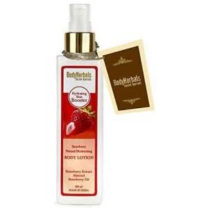 Buy BodyHerbals Strawberry Natural Moisturising Body Lotion - Nykaa
