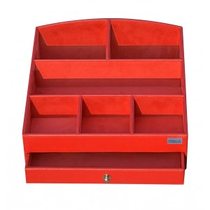 Buy Panache PU Leather Cosmetic Organiser With Red Drawer - Nykaa