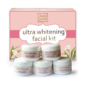 Buy Auravedic Ultra Whitening Facial Kit - Nykaa