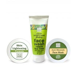 Buy Auravedic Blemish Free Skin Care Kit - Nykaa
