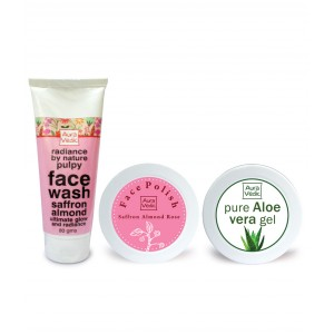 Buy Auravedic Pure Glow Facial Kit - Nykaa
