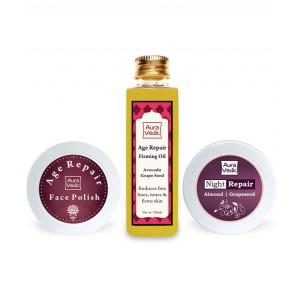 Buy Auravedic Anti Aging Facial Kit - Nykaa