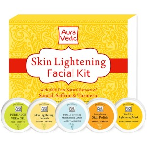 Buy Auravedic Skin Lightening Facial Kit - Nykaa