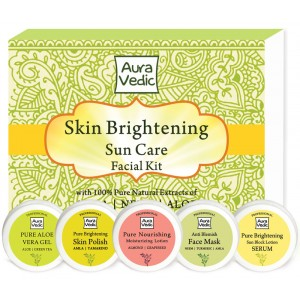 Buy Herbal Auravedic Skin Brightening Sun Care Facial Kit - Nykaa