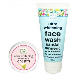 Buy Auravedic Whitening Face Wash And Cream - Nykaa