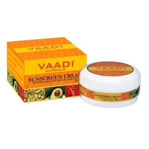 Buy Vaadi Herbals Sunscreen Cream With Extract Of Kiwi & Avocado SPF 25 - Nykaa