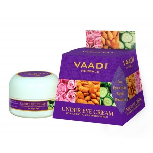 Buy Vaadi Herbals Under Eye Cream - Almond Oil & Cucumber Extract - Nykaa