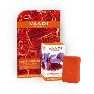 Buy Vaadi Herbals Kesar Chandan Facial Bar With Orange Peel - Nykaa