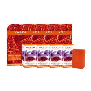Buy Vaadi Herbals Value Pack Of 4 Kesar Chandan Facial Bars - Nykaa