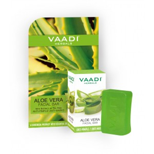 Buy Vaadi Herbals Aloe Vera Facial Bar With Extract Of Tea Tree Anti-Pimple/Anti Marks - Nykaa
