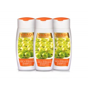 Buy Vaadi Herbals Value Pack Of  3 Amla Shikakai Shampoo - Hairfall & Damage Control - Nykaa