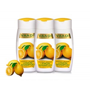 Buy Vaadi Herbals Value Pack Of  3 Dandruff Defense Lemon Shampoo With Extract Of Tea Tree - Nykaa