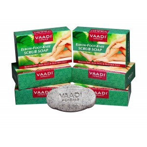 Buy Vaadi Herbals Super Value Pack Of 6 Elbow-Foot-Knee Scrub Soaps With Almond & Walnut Scrub - Nykaa