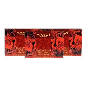 Buy Vaadi Herbals Value Pack Of 3 Enchanting Rose Soap With Mulberry Extract - Nykaa