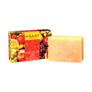 Buy Vaadi Herbals Fruit Splash Soap With Extracts Of Orange, Peach, Green Apple & Lemon - Nykaa