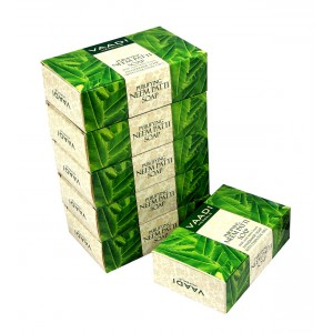 Buy Herbal Vaadi Herbals Super Value Pack Of 6 Purifying Neem - Patti Soaps With Pure Neem Leaves - Nykaa