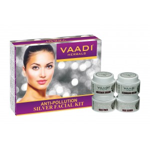 Buy Vaadi Herbals Silver Facial Kit With Pure Silver Dust, Rosemary & Lavender Oil, Sandalwood Paste - Nykaa