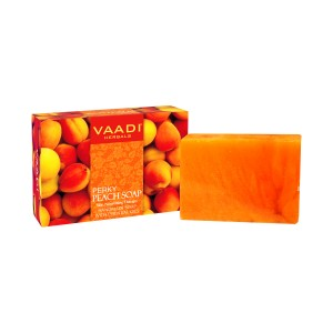 Buy Vaadi Herbals Perky Peach Soap With Almond Oil - Nykaa