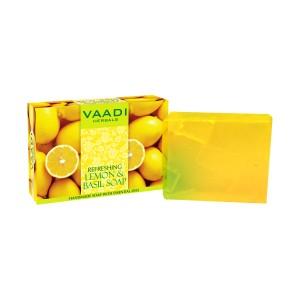 Buy Herbal Vaadi Herbals Refreshing Lemon And Basil Soap - Nykaa