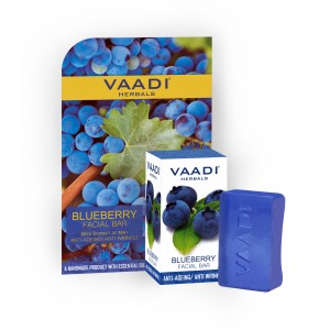 Buy Vaadi Herbals Blueberry Facial Bar With Extract Of Mint - Nykaa