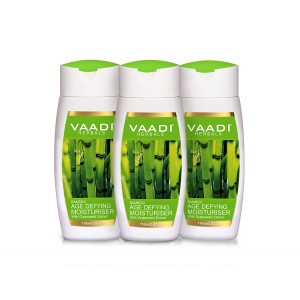 Buy Herbal Vaadi Herbals Value Pack Of 3 Bamboo Age Defying Moisturiser With Grapeseed Extract - Nykaa