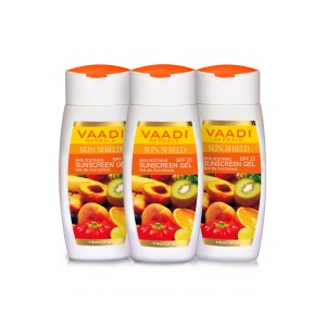 Buy Vaadi Herbals Value Pack Of 3 Sunscreen Gel With Mixfruit Extracts SPF 25 - Nykaa