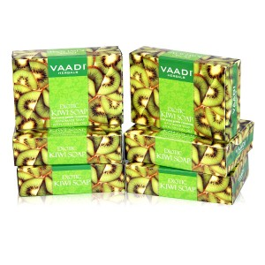 Buy Vaadi Herbals Super Value Pack Of 6 Exotic Kiwi Soap With Green Apple Extract - Nykaa