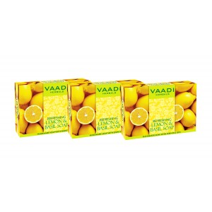 Buy Vaadi Herbals Value Pack Of 3 Refreshing Lemon And Basil Soap - Nykaa