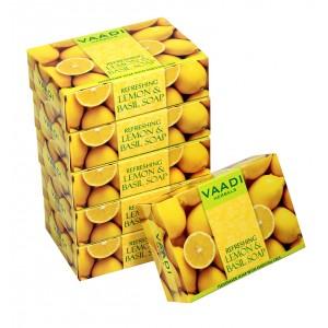 Buy Vaadi Herbals Super Value Pack Of 6 Refreshing Lemon And Basil Soap - Nykaa