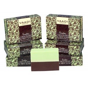 Buy Vaadi Herbals Super Value Pack Of 6 Tempting Chocolate & Mint Soap-Deep Moisturising Therapy - Nykaa