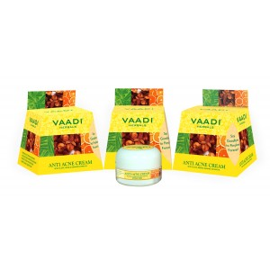 Buy Vaadi Herbals Value Pack Of 3 Anti-Acne Cream - Clove & Neem Extract - Nykaa