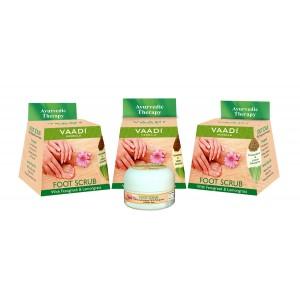 Buy Vaadi Herbals Value Pack Of 3 Foot Scrub With Fenugreek & Lemongrass Oil - Nykaa