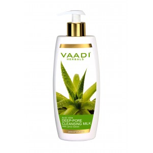 Buy Vaadi Herbals Aloevera Deep Pore Cleansing Milk With Lemon Extract  - Nykaa