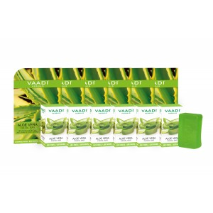 Buy Vaadi Herbals Super Value Pack Of 6 Aloe Vera Facial Bars With Extract Of Tea Tree - Nykaa