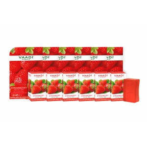 Buy Vaadi Herbals Super Value Pack Of 6 Strawberry Facial Bars With Almond Oil & Grape Seed Extracts - Nykaa