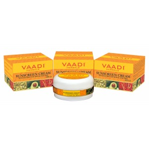 Buy Vaadi Herbals Value Pack Of 3 Sunscreen Cream With Extract Of Kiwi & Avocado SPF 25 - Nykaa