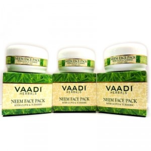 Buy Vaadi Herbals Value Pack Of 3 Neem Face Pack With Clove & Tea Tree Oil - Nykaa