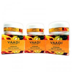 Buy Vaadi Herbals Value Pack Of 3 Refreshing Fruit Pack With Apple, Lemon & Cucumber - Nykaa