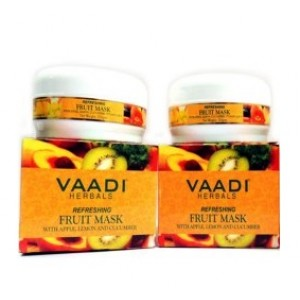 Buy Vaadi Herbal Value Pack of 2 Refreshing Fruit Pack with Apple, Lemon & Cucumber - Nykaa