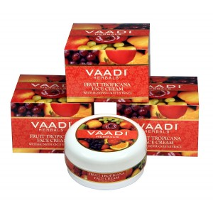 Buy Vaadi Herbals Value Pack Of 3 Fruit Tropicana Face Cream With Honeysuckle Extract - Nykaa