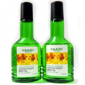 Buy Vaadi Herbals Pack Of 2 Aromatherapy Body Oil With Pure Lemon Grass & Lily Oil - Nykaa