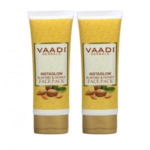 Buy Vaadi Herbal Value Pack Of 2 Instaglow Almond & Honey Face Pack - Nykaa