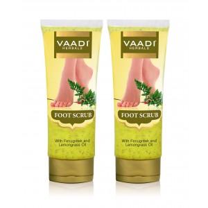 Buy Vaadi Herbals Foot Scrub With Fenugreek & Lemongrass Oil (Pack Of 2) - Nykaa