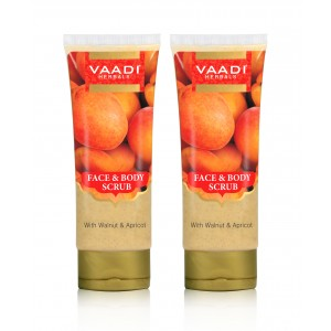 Buy Vaadi Herbals Face & Body Scrub With Walnut & Apricot (Pack Of 2) - Nykaa