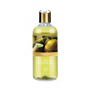 Buy Vaadi Herbals Breezy Olive & Green Apple Shower Gel - Nykaa