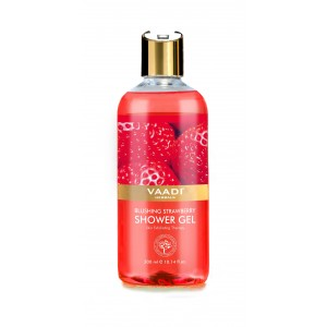 Buy Vaadi Herbals Blushing Strawberry Shower Gel - Nykaa