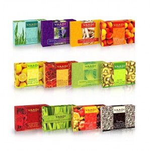 Buy Vaadi Herbals Assorted Luxurious Handmade Herbal Soaps (Pack Of 12) - Nykaa