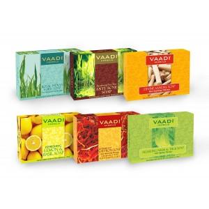 Buy Vaadi Herbals Traditional Remedy Handmade Herbal Soaps (Pack Of 6) - Nykaa