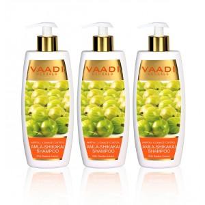 Buy Vaadi Herbals Amla Shikakai Shampoo - Hairfall & Damage Control (Pack Of 3) - Nykaa